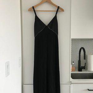 Zara Black Linen Maxi Dress